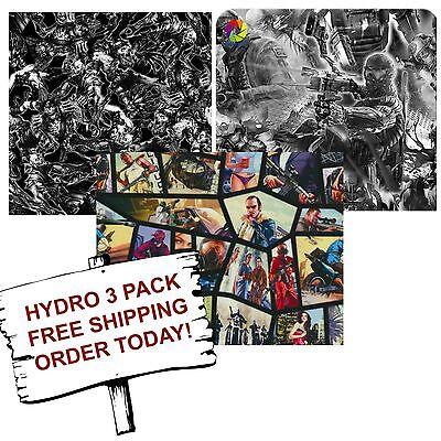 Hydrographic Film Water Transfer Printing Film Hydro Dip Gamer 3 Pack