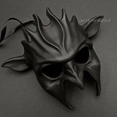 Halloween Black Devil Evil Costume Masquerade Party Cosplay Mask - Black Devil Halloween Costume