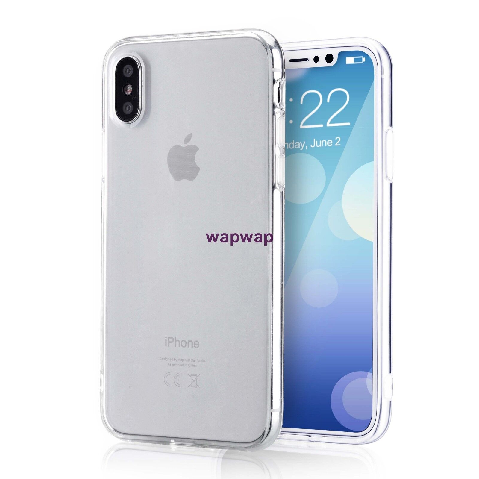 For Apple iPhone X XS Case Silicone Clear Bumper Gel iPhone 10 10S Cover 3