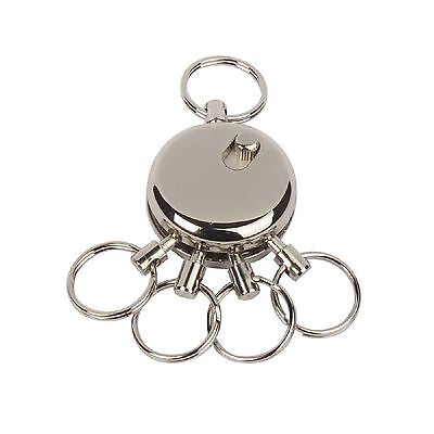 5-fach Schlüsselhalter Schlüsselring abnehmbarer Schlüsselbund Keyring Edelstahl