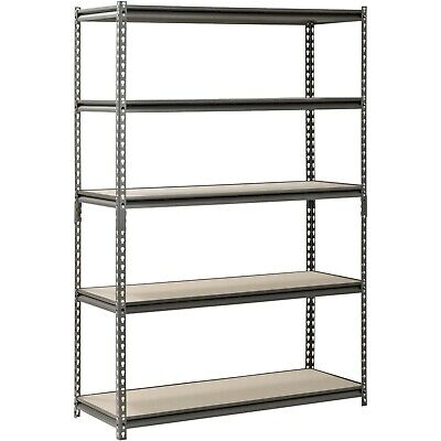 "Metal Muscle Rack Shelving Storage 48""W x 18""D x 72""H Garage 5 Shelf Heavy Duty"