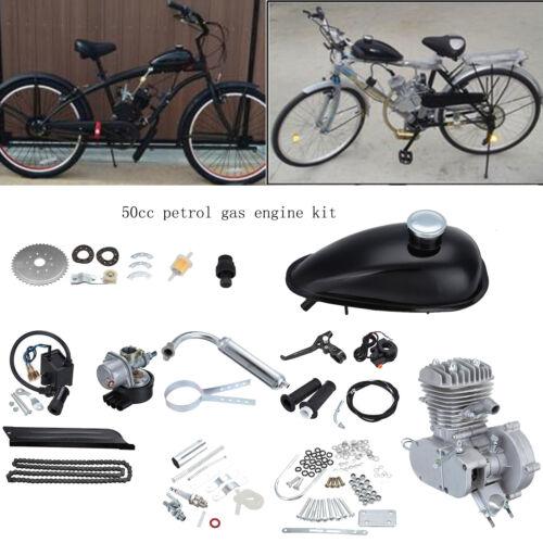 2 temps Vélo Motorisé Essence Moteur Moteurs 50cc à Gaz Bike Engine Motor Kit FR