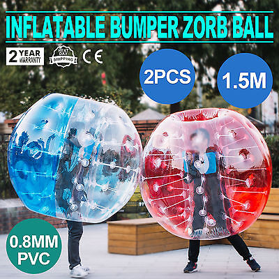 2Pcs 1 5M Body Inflatable Bubble Bumper Zorb Ball Fun  Outdoor Washable