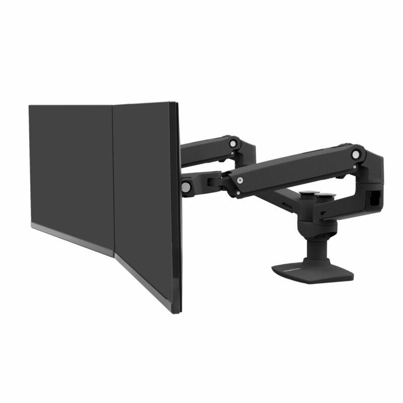 Ergotron LX Dual Side-by-Side Arm Black