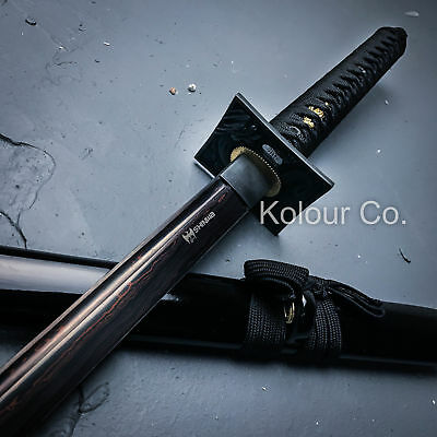 "40"" FIRE DAMASCUS Full Tang SAMURAI KATANA SWORD Japanese Ninja w/ SHEATH"
