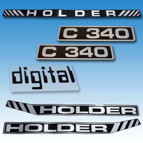 Aufkleber-Satz Aufklebersatz Aufkleber Holder C 340 Digital Traktor Schlepper  Foto 1