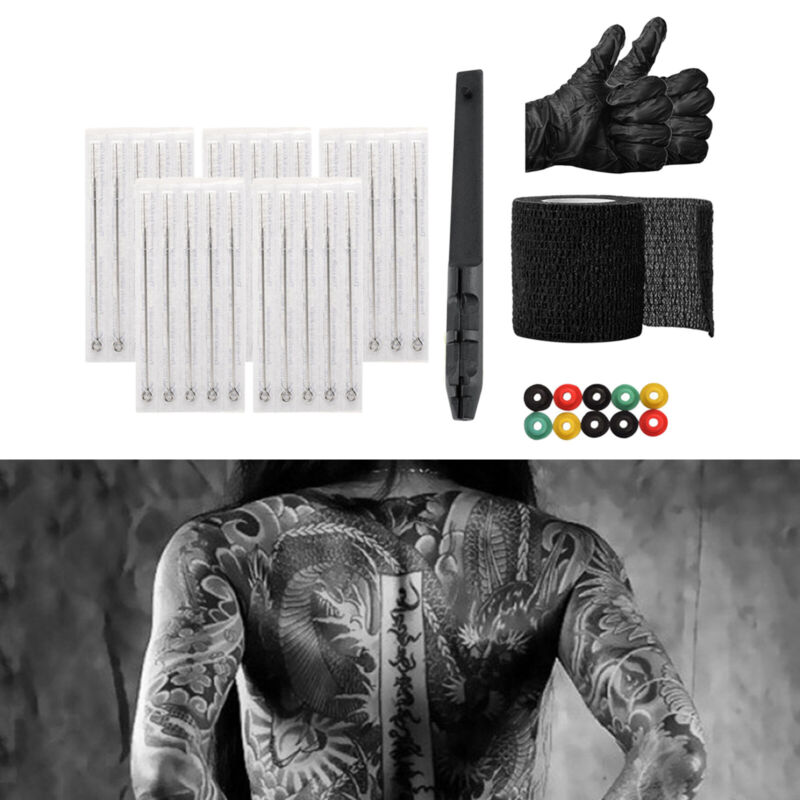 Hand+Poke+%26+Stick+Tattoo+Kit+Tattooing+Supply+with+Needles+Bandage+Tape+for