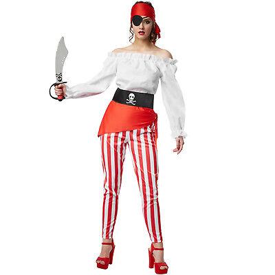 Frauenkostüm Piratenkostüm Damen Fasching Halloween Piratin Kostüm Seeräuber ()