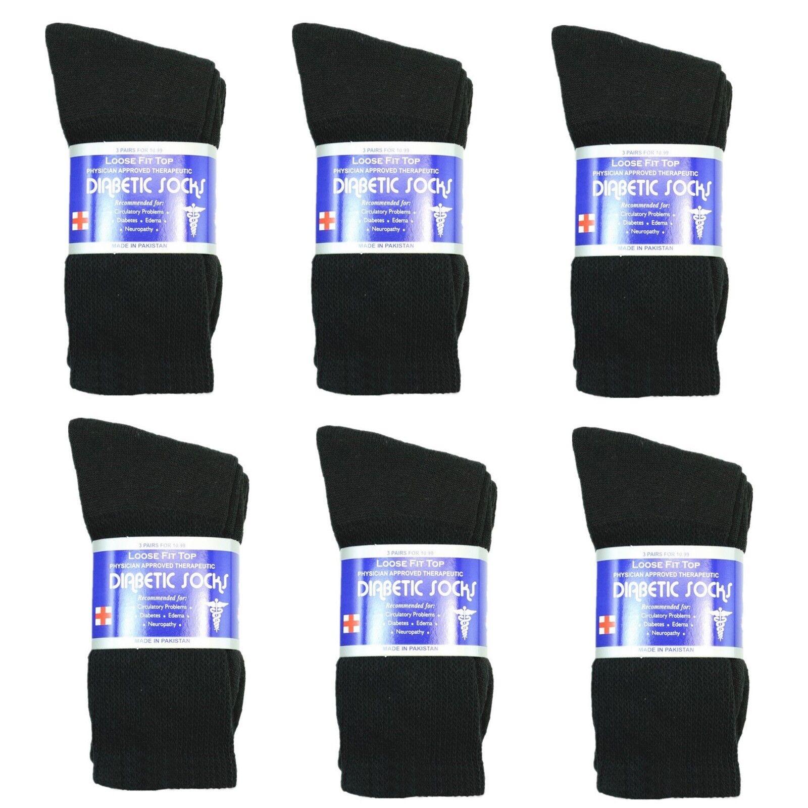 new diabetic crew socks circulatory health cotton
