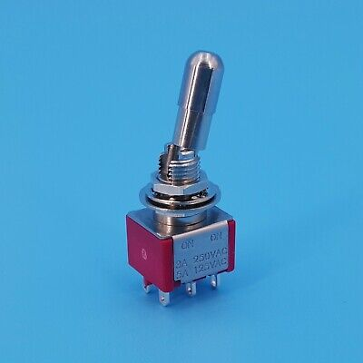 Sh T8011-lkb 6pin Dpdt Locking Lever On-on 2 Position Mini Toggle Switch