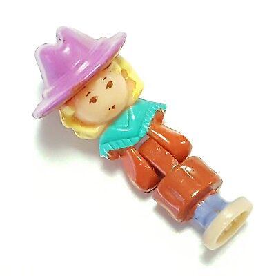 VTG Polly Pocket Bluebird 1994 Western Cowboy Girl Hat Blonde Saloon NO - Saloon Girl Hats