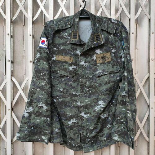 ROKN South Korea Navy SSU Special Warfare Dark Gray Camo Jacket Shirt