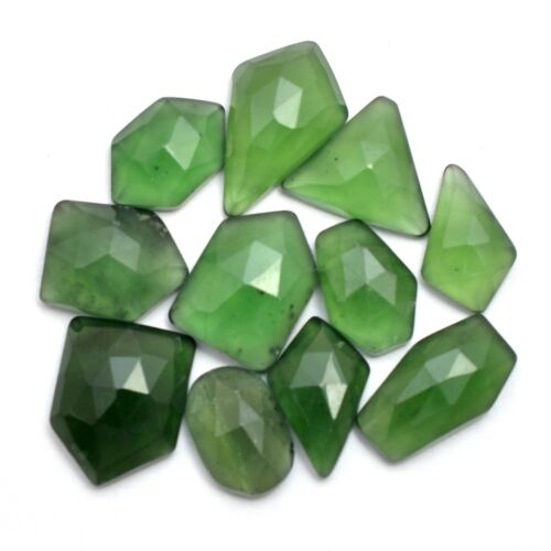 Faceted Serpentine Gemstone 12mm-17mm Loose Free From Rosecut Cabochons Lot