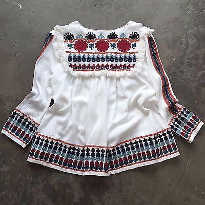 Anthropologie Embroidered Bohemian Vtg Insp Boho Indie Jacket Blouse Top Medium