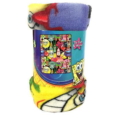New SpongeBob Squarepants Super Plush Soft Micro Raschel Throw Blanket - Raschel Plush Throw
