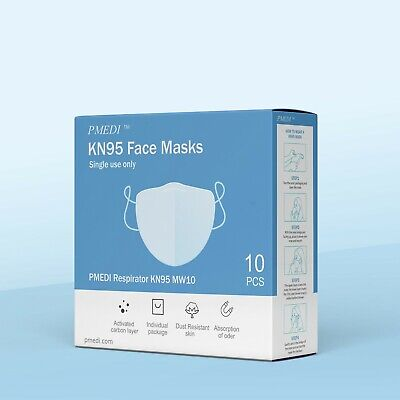 10 Pack Kn95 Face Mask Respirator 5-layer Protection Usa Fast Shipping K-n95