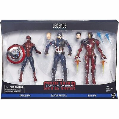 Marvel Legends 3-Pack: Spider-Man, Captain America, and Iron Man