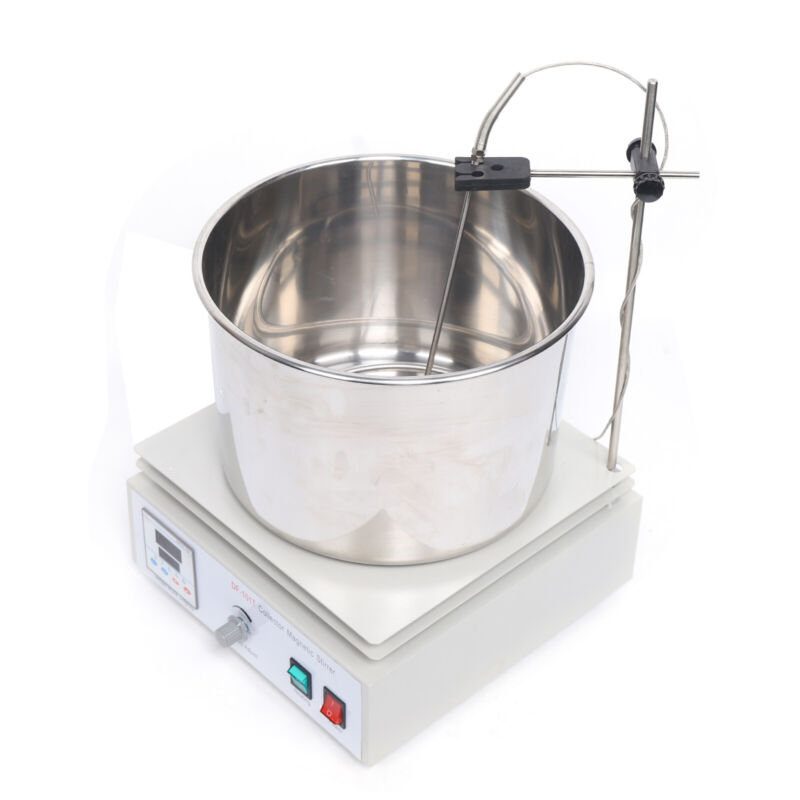 Lab Heat-gathering Magnetic Stirrer Water Bath Oil Bath Thermostat Heating 10L