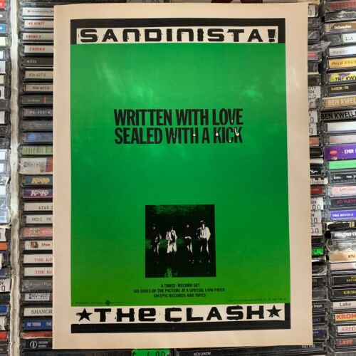 THE CLASH // Written With Love Sealed With A Kiss Ad (1981) [Magazine AD]