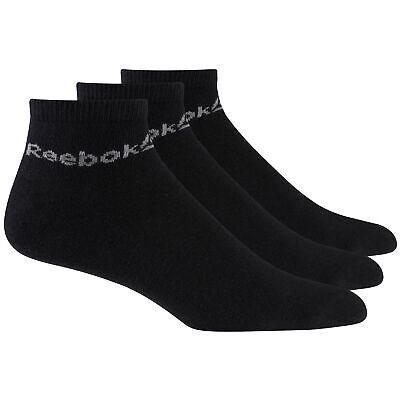 Reebok Active Core Sport Fitness Ankle Socks 3 Pack Black