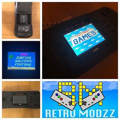 Atari Lynx I MK1 Handheld Console McWill Backlight LCD microUSB Power Refurbed