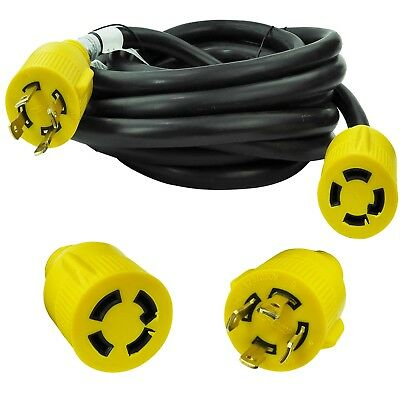 Leisure 30 Amp 25 125250v 4 Prong Generatorindustrial Locking Extension Cord