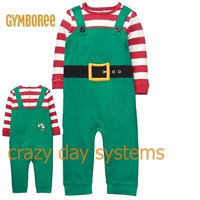 NEW Gymboree Baby Christmas Elf One Piece Outfit Set 3 6 12 18 24 Months Baby