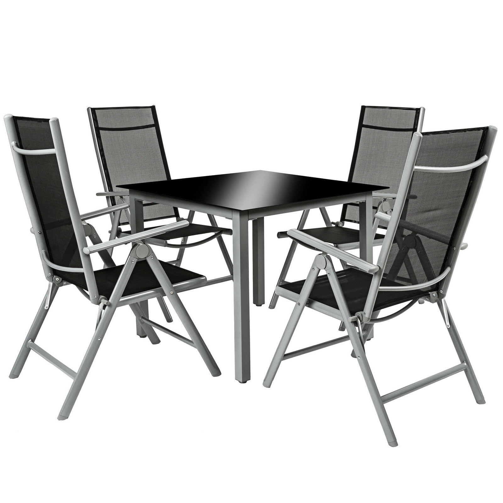 Aluminio conjunto muebles de jardin 4 1 silla adjustable for Sillas de jardin de aluminio