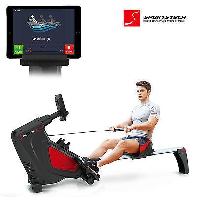 Sportstech RSX500 Rudergerät mit Smartphone App Steuerung Rower Rudermaschine