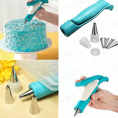 7Pc DECORATING PEN SET Icing Bag Nozzle Detail Sugarcraft Piping Cake/Cupcake