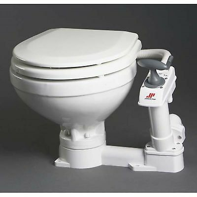 Johnson Pump 80-47229-01 AquaT Compact Manual Marine Toilet Circular