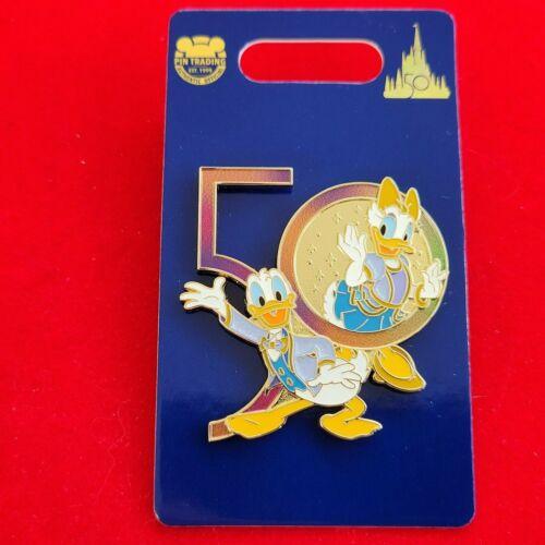 Disney Pin WDW Walt Disney World 50th Anniversary Donald and Daisy Duck