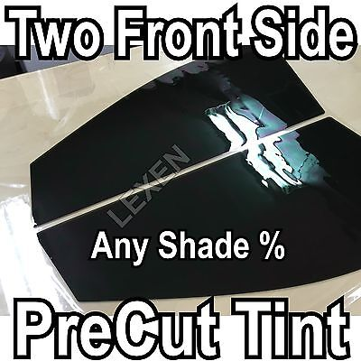 TWO FRONT PRECUT 2PLY DYED WINDOW TINT COMPUTER CUT GLASS FILM CAR ANY SHADE f