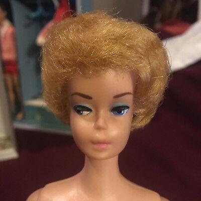 Vintage SL Midge Barbie Doll 1962 Japan Patent Bubble Cut Blonde