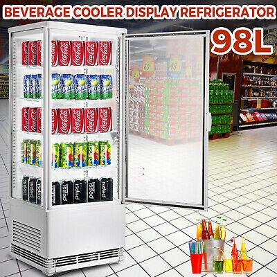 Commercial Beverage Refrigerator 98l Countertop Display Cooler Drink Show Case