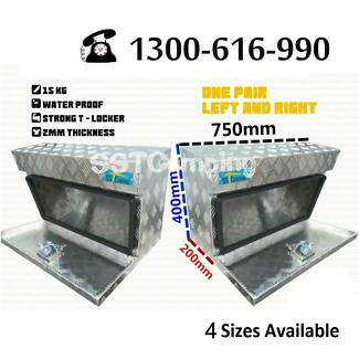 L750*W220*H400 Aluminium Under Tray SST Camping Toolbox Pair Clayton South Kingston Area Preview