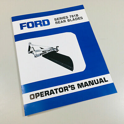 Ford 781b Rear Blade Operators Owners Manual