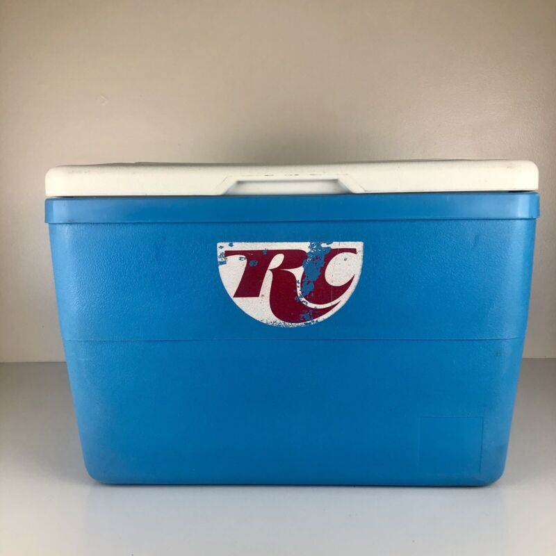 Vintage RC Cola Royal Crown Soda Cooler Ice Box Leather Straps Authentic