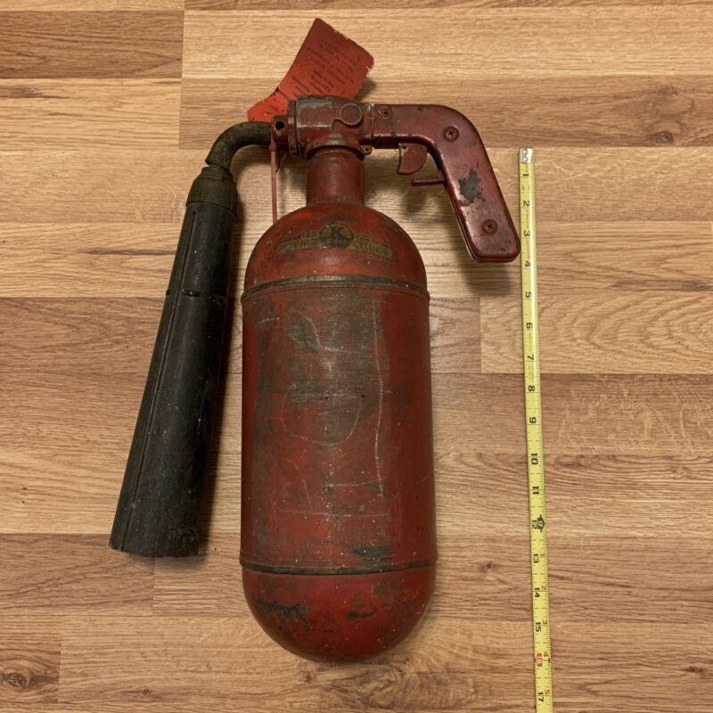 "Rare Vintage Kidde ""Shatter Proof Cylinder"" Pill Shaped Red Fire Extinguisher"
