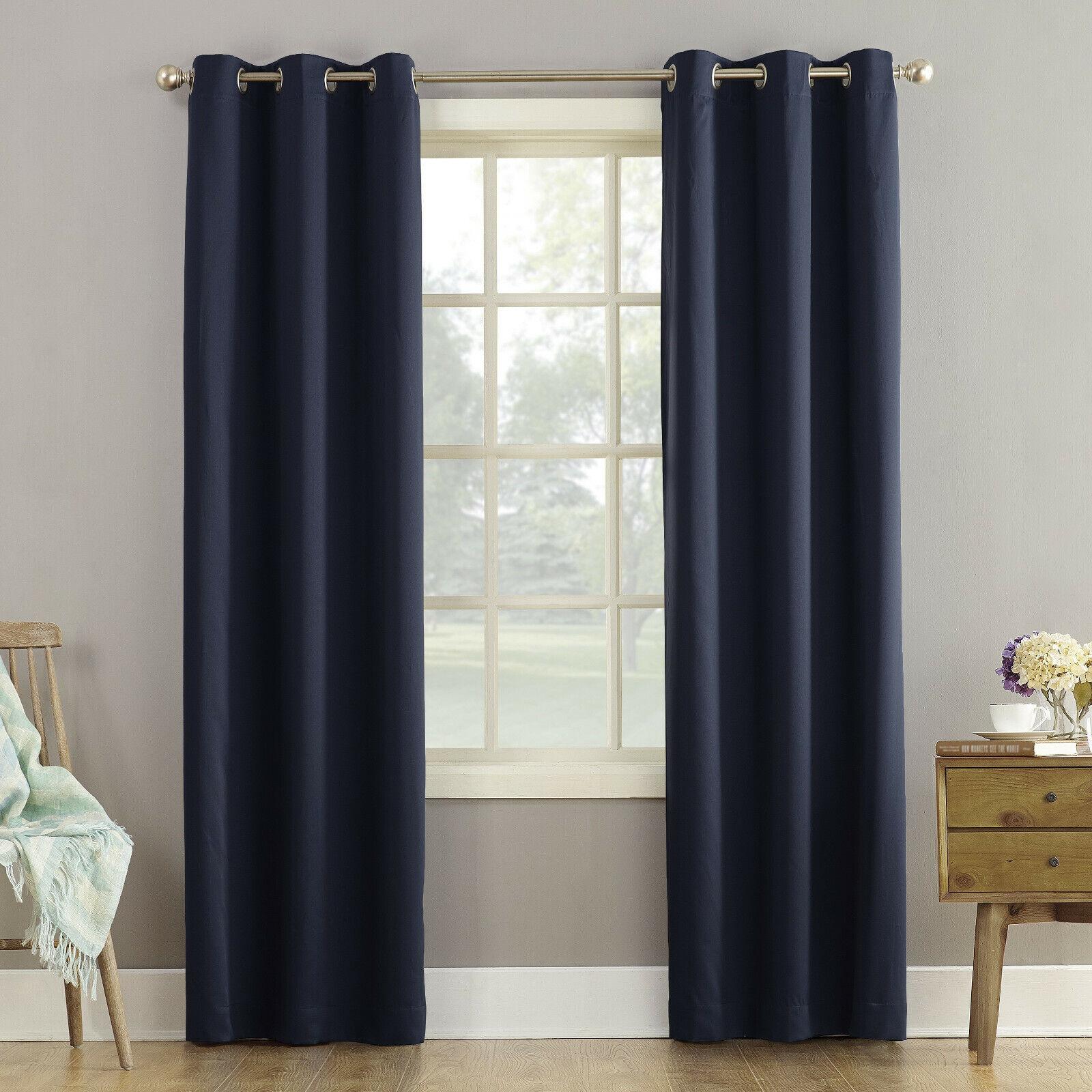 Sun Zero Riley Kids Bedroom Blackout Grommet Curtain Panel,