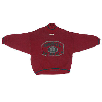 ARBOL Bariloche Vintage 90's Letter Spell Out Red Gray Mens Sweater size Small segunda mano  Embacar hacia Argentina