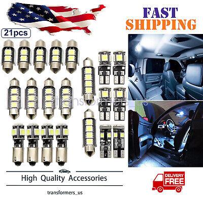 Car Interior White LED Light Bulb Kit Fit For BMW 5 series M5 E60 E61 04-10 X21
