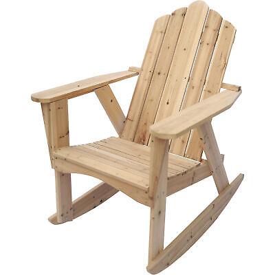Stonegate Designs Outdoor Patio Deck Wooden Adirondack Rocking Chair- Unfinished Adirondack Rocking Chair