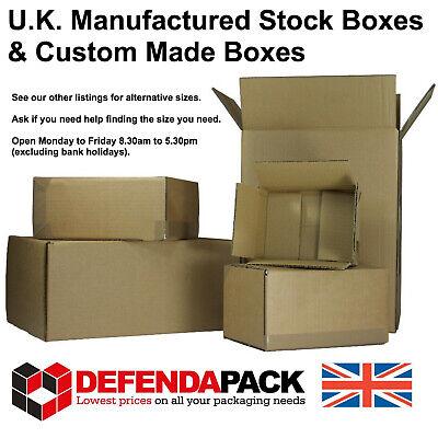 10 Cardboard POSTAL POSTING BOX SHIPPING STORAGE HOUSE MOVE BOXES 406x406x406mm
