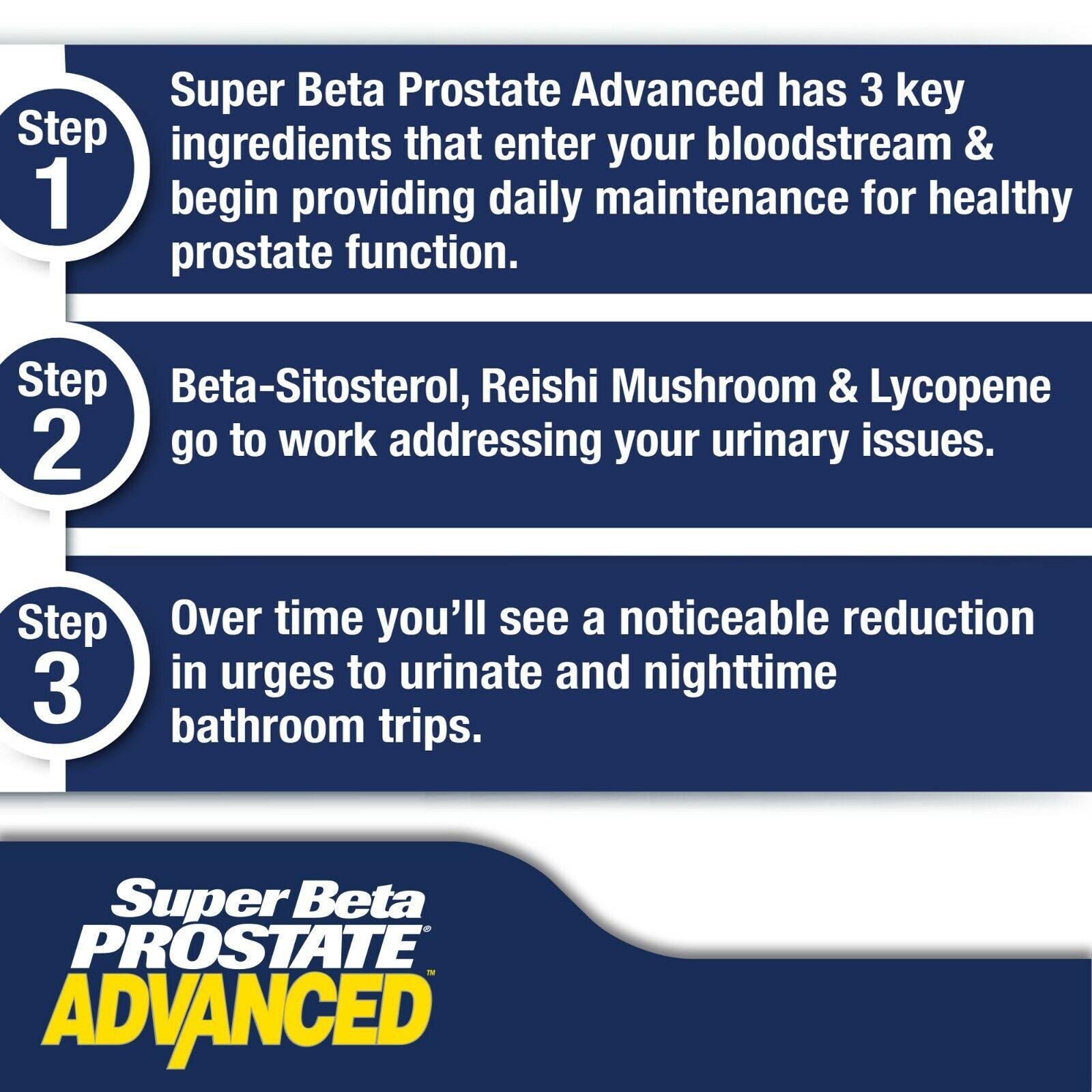 Super Beta Prostate Advanced - Prostate Supplement - Brand New - Free S&H 5