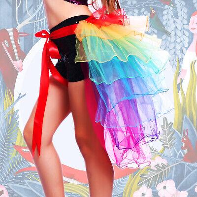 Frauen Tüllrock Pfaurock Pfau Rock Tutu Tütü Petticoat Kostüm Damenmode Prost ()
