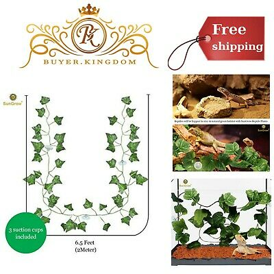 Reptile Plants Terrarium Plastic Amphibians Clean Silk Leaves Pet Supplies