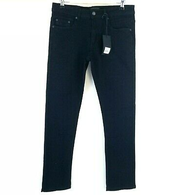 Steve's Jeans Mens Pants Size 28 X 30 Skinny Fit Black Stretch Denim New NWT