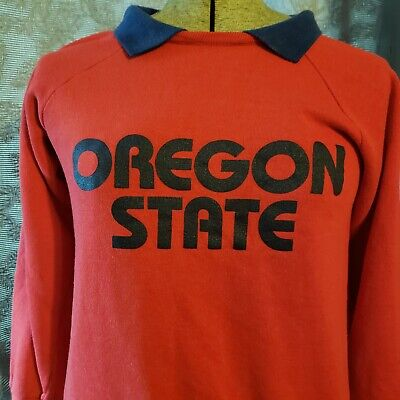 Vintage Oregon State University Sweatshirt Red Size Small OSU Campus Shirt
