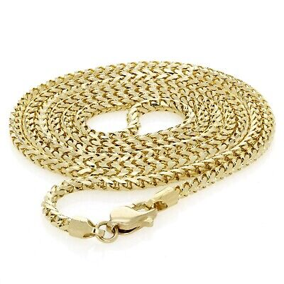 """14k Yellow Gold Solid Franco Chain Necklace 24"""" 2.15mm 14.5 grams"""